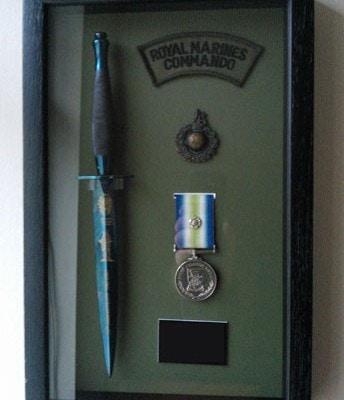 Commando medal bespoke box frame