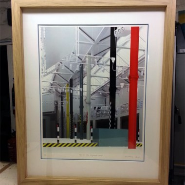 framed hacienda screen print