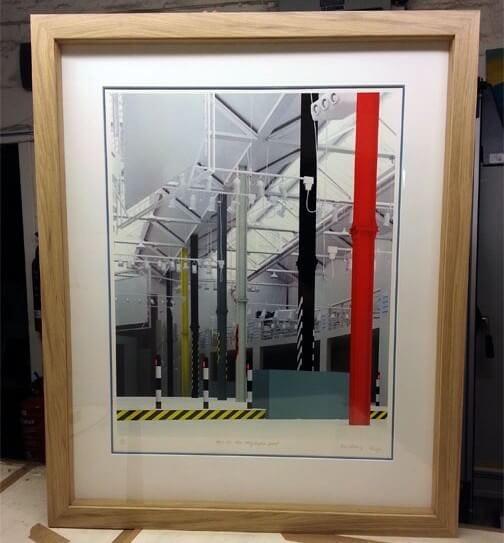 framed hacienda screen print
