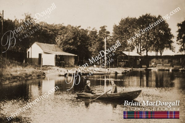 BS045 - Burnside Boating Loch c1910