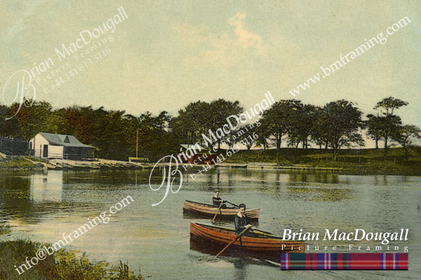 BS046 - Burnside Boating Loch c1905