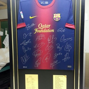 Barcelona framed football-top