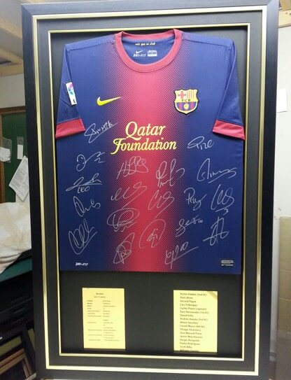 Barcelona framed football-top