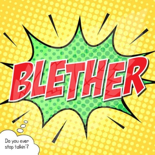 scottish greeting card blether
