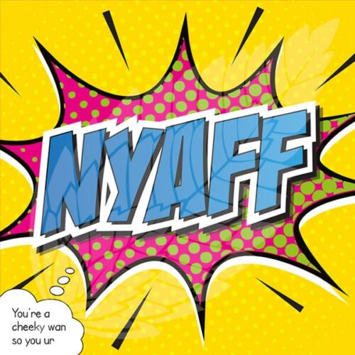 scottish greeting card - nyaff