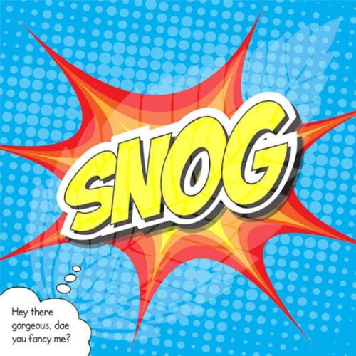 scottish greeting card - snog